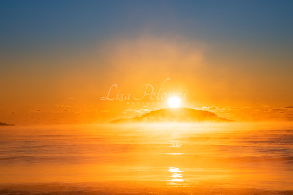 Sea Smoke Sunrise Photography Art | lisa pelonzi photographer
