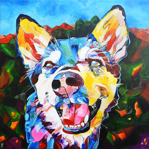 Snail Candy   Snail candy Art Studio   painting by Tif Choate, 'That A Girl' Dog Painting   Art Print of Dog