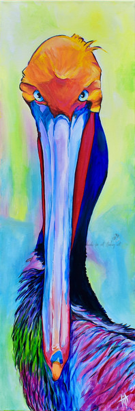 snaiil candy, SnaiilCandy, Pelican Art | Art by Tif Choate | Original painting of pelican, bold art
