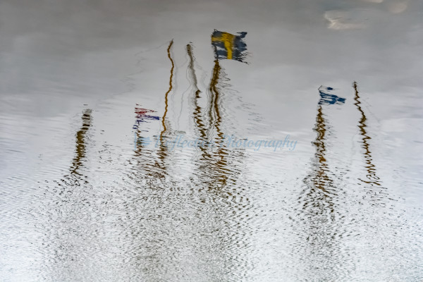 Reflection in Water of the Kalmar Nyckel. Fine Art Photograph