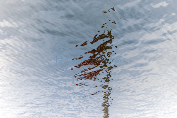 Abrastract Photograph of American Flag Reflected in Water