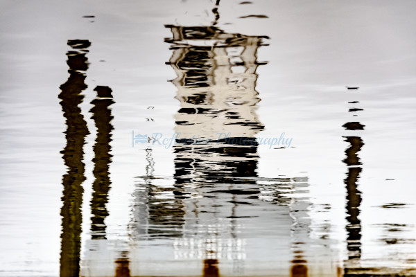 Fine Art Photograph of a Docked Boat Reflected in Water