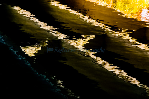 Meditation Abstract Photograph of Reflection of Bridge