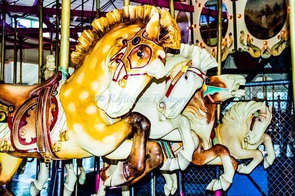 Carousel Horses. Fine Art Photograph by M F Gladu. Binghamton, NY