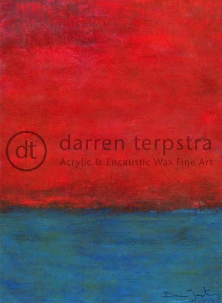 Red & Turquoise Art | Darren Terpstra Artist