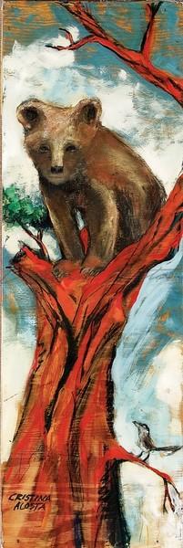 Bear Cub in Cedar Tree