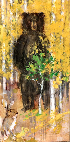 Standing Bear in Yellow Aspens