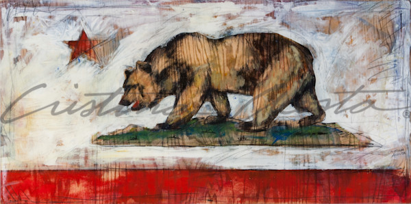 California Bear Flag by Cristina Acosta