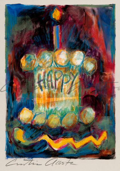 Happy Cake I  Art | Cristina Acosta Art & Design llc