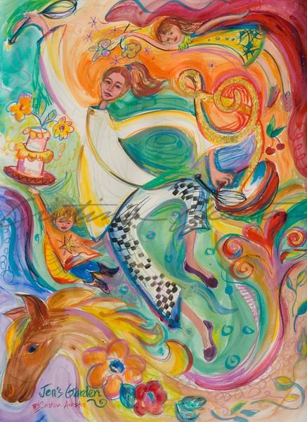 Jen's Garden   The Pastry Chef Art | Cristina Acosta Art & Design llc