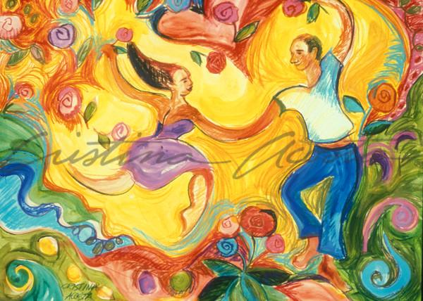 Lovers   The Dance Of Love Art | Cristina Acosta Art & Design llc