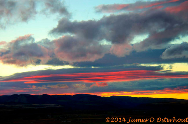 swan valley idaho sunsets