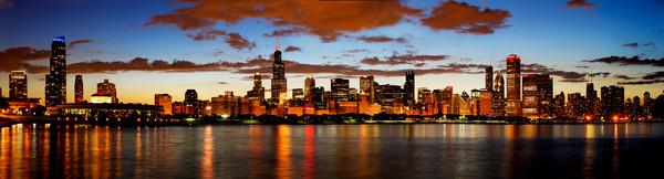 Hawks Win Chicago Skyline