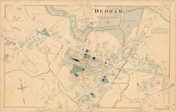 Dedham Town Center 1876