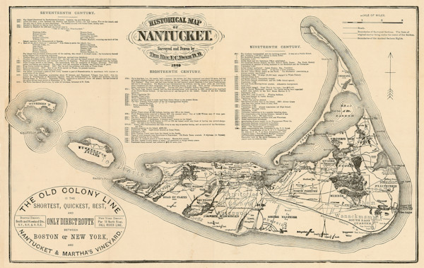 Nantucket 1869-Old Colony Line