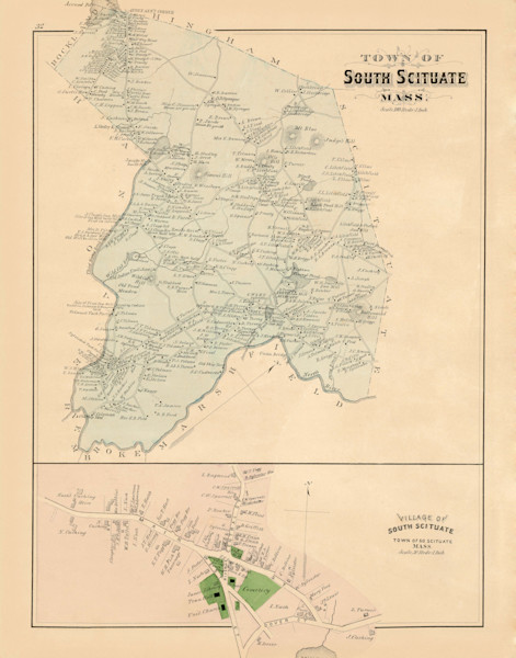 Norwell Town + Village 1879-South Scituate