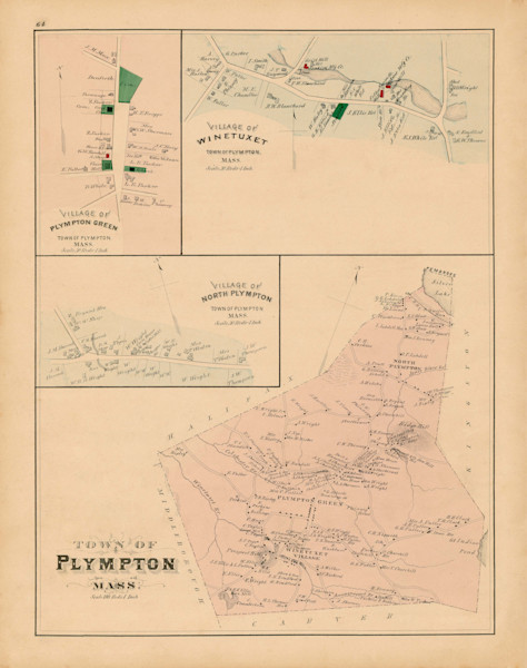 Plympton Town + Villages 1879