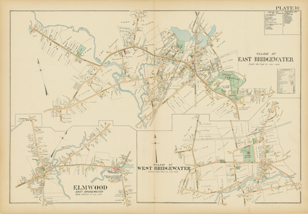 Bridgewater + East + West Villages 1903