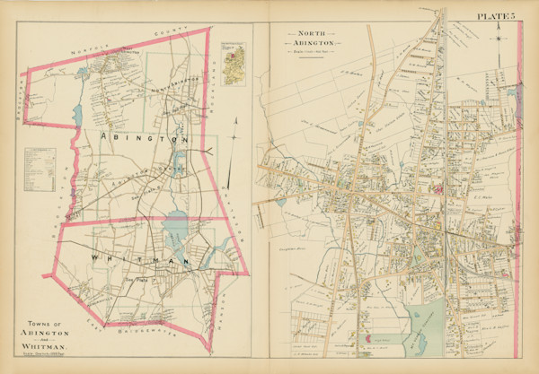 Abington + Whitman Towns + North Abington Village 1903