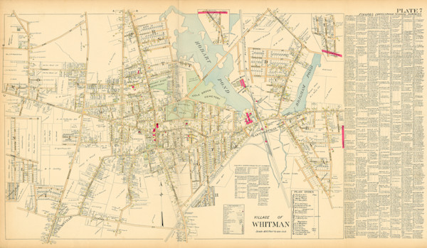 Whitman Village 1903-with Names