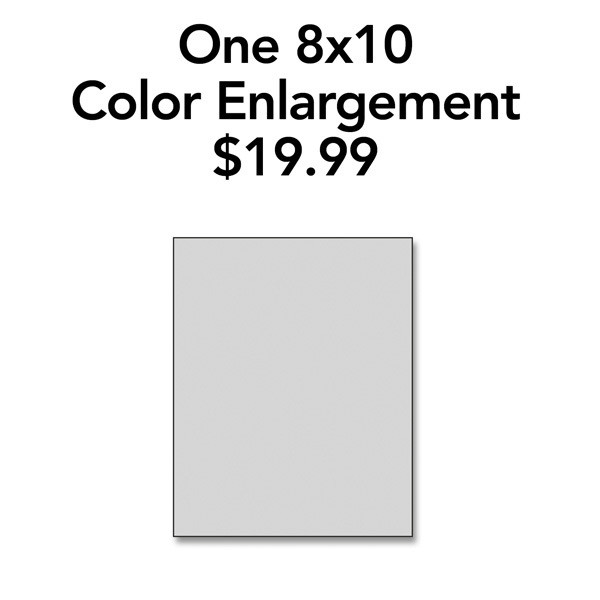 One 8x10 Color Enlargement