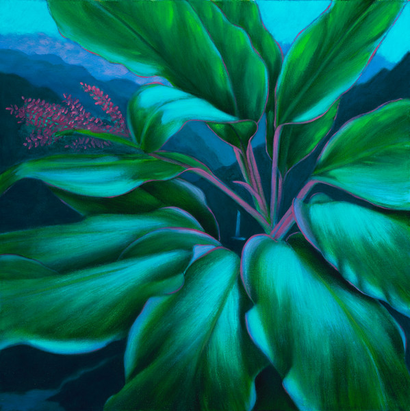 Nature Art | Green Ti Leaves by Philip Sabado