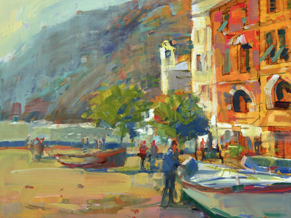 Vernazza Boatmen | Bill Suttles Fine Art