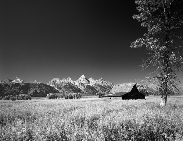 Mormon town and the Tetons, Wyoming