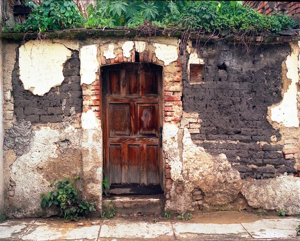 Old Adobe Wall and Door