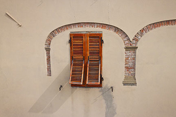 Window-with-arch Barga Italy