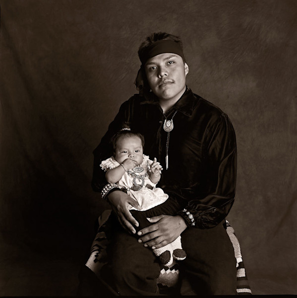 Navajo Portrait Navajo Father with Child