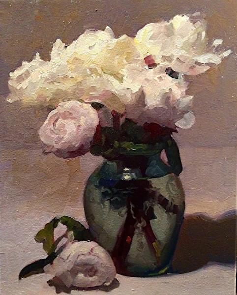 Peonies in Ballerina Vase