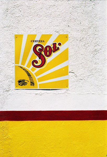 Sol Cerveza Sign in Chapala Mexico