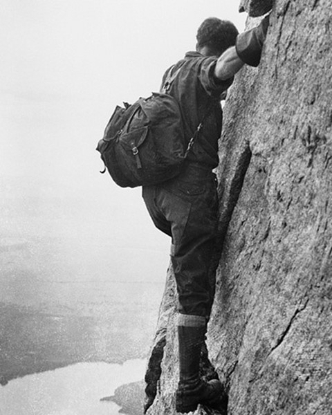 climber in Tetons