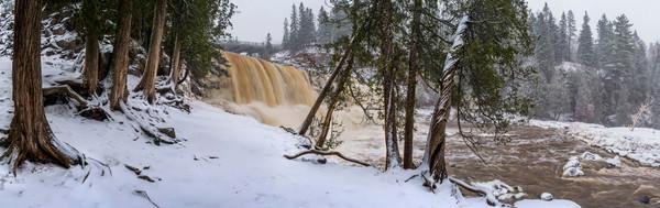 Gooseberry Falls in Winter