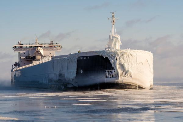 American Integrity Duluth harbor ship