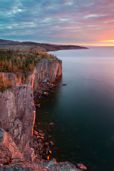 Sunrise at Palisade Head in Tetteguche State Park