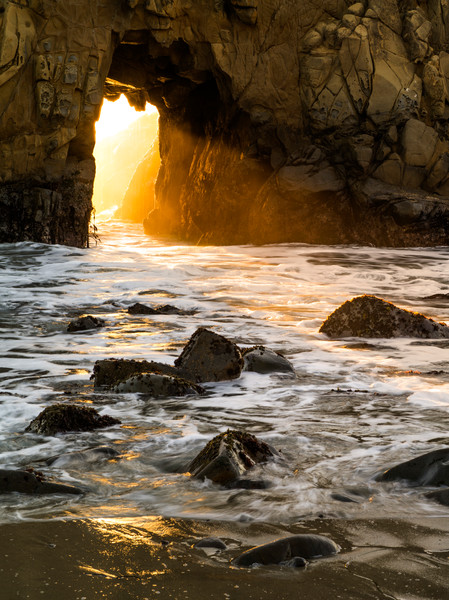 Enter the Portal at Pfeiffer Beach in Big Sur