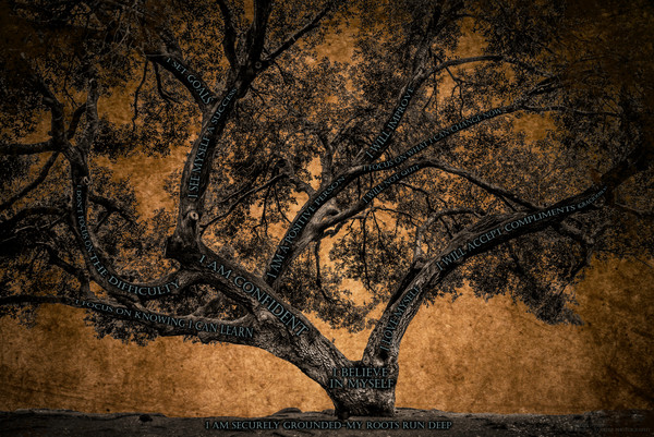 Believe Tree - Brown Paper Photograph For Sale as Fine Art