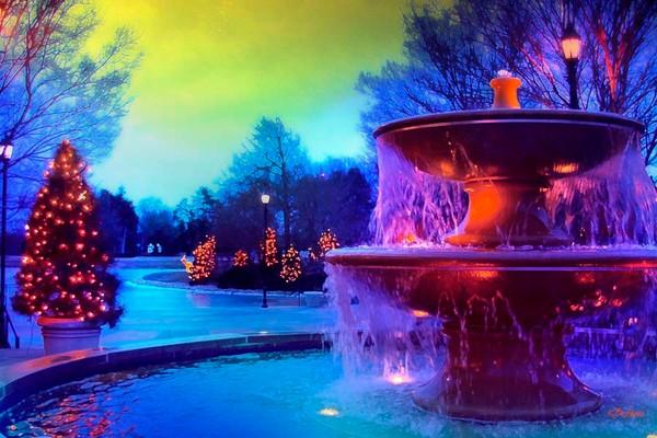 Holiday Fountain 3