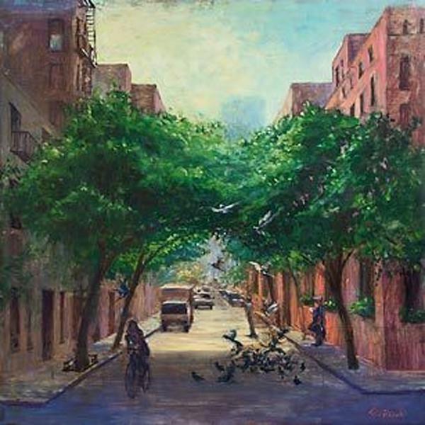 Morning Street Scene