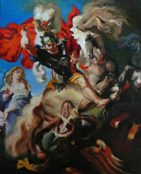 St. George & the Dragon - After Rubens