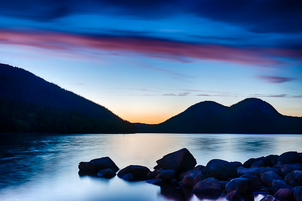 Jordan Pond at Night Fine Art Photograph by Robert Lott