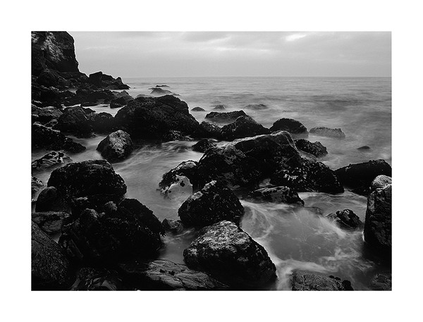 Black and White Seascapes of Big Sur Coastline and Kauai, Hawaii Coastline