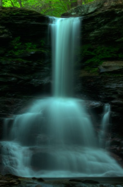 Fine Art Photograph of a Ricketts Glen Waterfall by Michael Pucciarelli