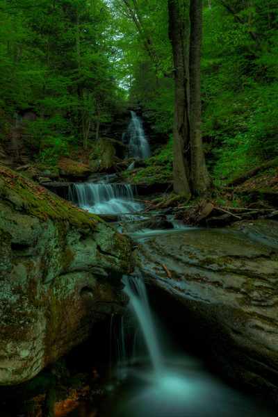 Fine Art Photographs of Waterfalls in Ricketts Glen State Park by Michael Pucciarelli