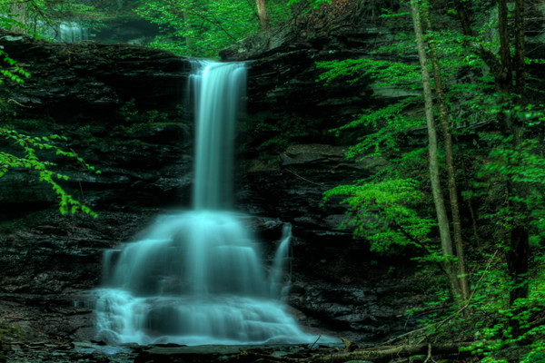 A Fine Art Photograph of a Popular Waterfall of Ricketts Glen by Michael Pucciarelli