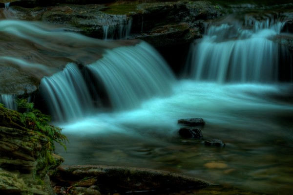 A Fine Art  Photograph of a Waterfall in Ricketts Glen State Park by Michael Pucciarelli
