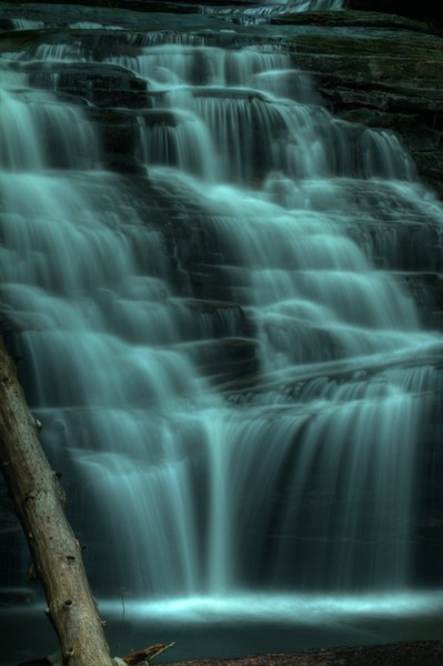 A Fine Art Photograph of a Waterfall Ricketts Glen State Park by Michael Pucciarelli