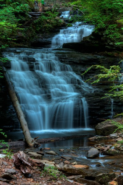 A Fine Art Photograph of Ricketts Glen Falls by Michael Pucciarelli